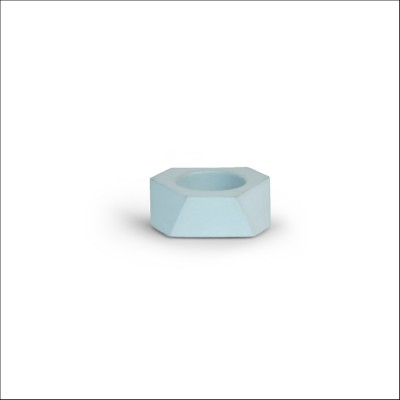 Facet T-light - Mini - Eucalyptus Blauw