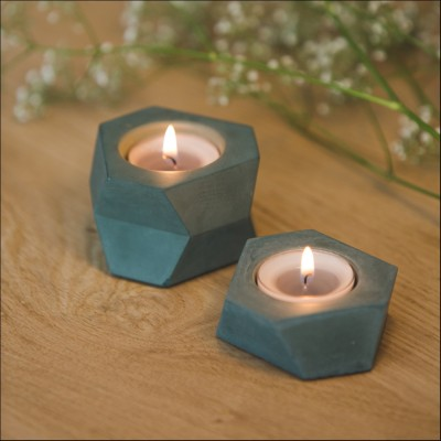 Facet T-light - Mini - Forest Groen